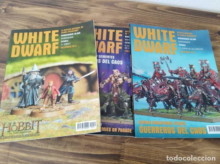 LOTE REVISTAS WHITE DWARF WARHAMMER 40.000 GAMES WORKSHOP SEÑOR DE LOS ANILLOS (Juguetes - Rol y Estrategia - Warhammer)