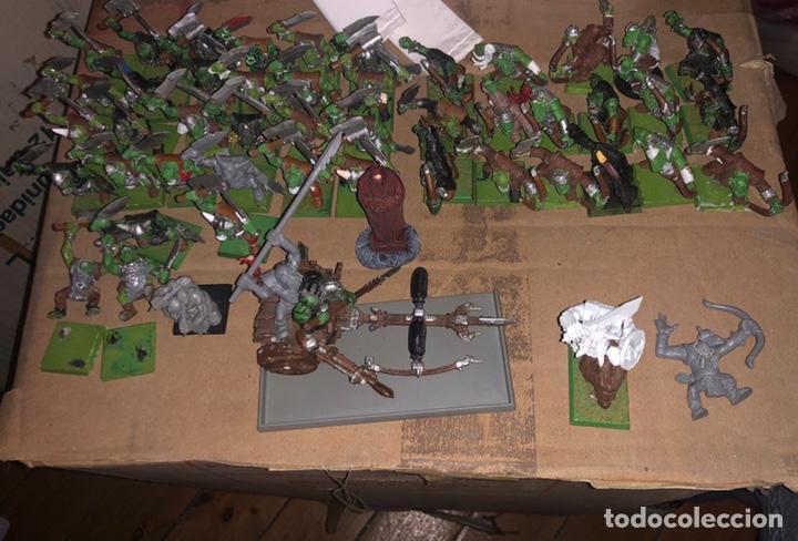 Juegos Antiguos: Pack ejército de ORCOS warhammer 2002 - Foto 2 - 167077245
