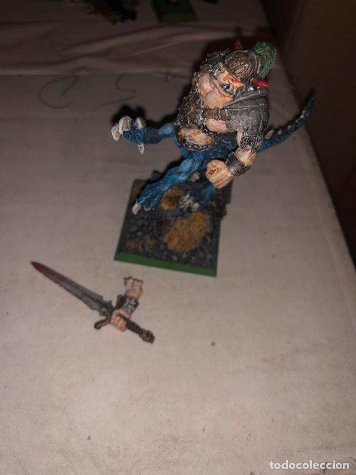 Juegos Antiguos: Ogro dragón warhammer caos 2002 plomo - Foto 3 - 167183988