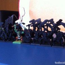 Juegos Antiguos: WARHAMMER ORCOS/IRONJAWZ - ARBOYS ORRUKS - 20 ORCOS CON GRUPO DE MANDO. Lote 167856744