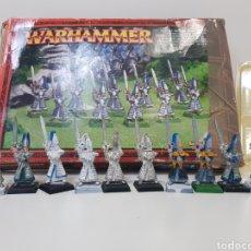 Juegos Antiguos: 10 X WARHAMMER / ALTOS ELFOS / MAESTROS DE LA ESPADA DE HOETH / HIGH ELF SWORDMASTERS OF HOETH. Lote 168702590