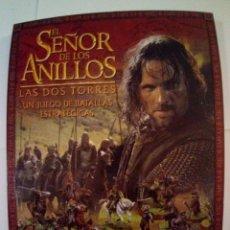 Juegos Antiguos: EL SEÑOR DE LOS ANILLOS-LAS DOS TORRES-UN JUEGO DE BATALLAS ESTRATEGIAS. Lote 171716549