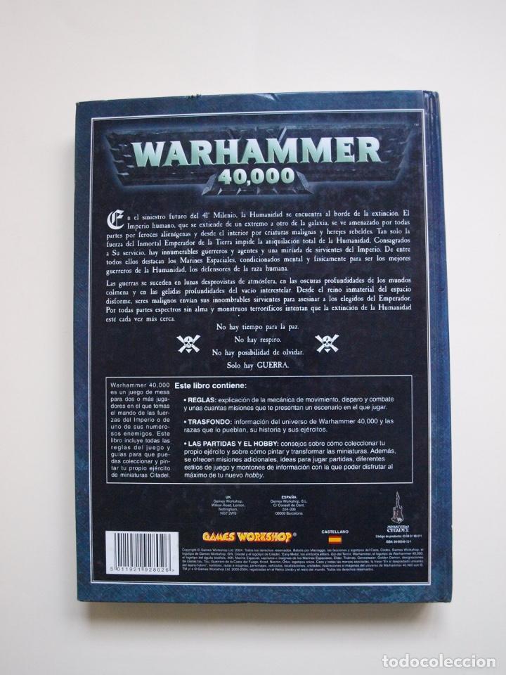 Juegos Antiguos: WARHAMMER 40,000 - 40000 - 40K - LIBRO REGLAMENTO DE 2004 Y 270 PÁGINAS - GAMES WORKSHOP - Foto 7 - 172020712