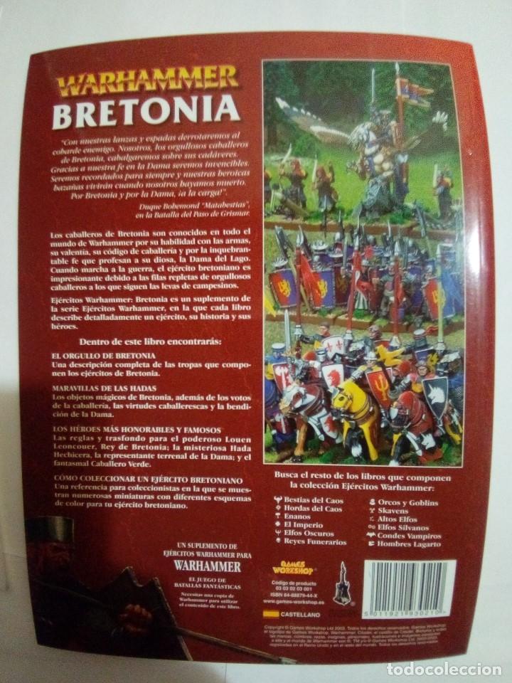 Juegos Antiguos: LOTE DE 4 CODEX WARHAMMER ASEDIO+REYES FUNERARIOS+BRETONIA+LA SOMBRA SOBRE ALBION-COMO NUEVOS - Foto 11 - 172374333