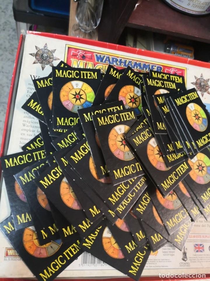 83 TARJETAS MÁGIC ITEM BATALLA DE WARHAMMER / 1992 WHFB / OLD WARHAMMER EN INGLES (Juguetes - Rol y Estrategia - Warhammer)