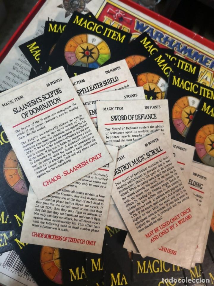 Juegos Antiguos: 83 TARJETAs MÁGIc item BATALLA DE WARHAMMER / 1992 WHFB / OLD WARHAMMER en ingles - Foto 2 - 173071298
