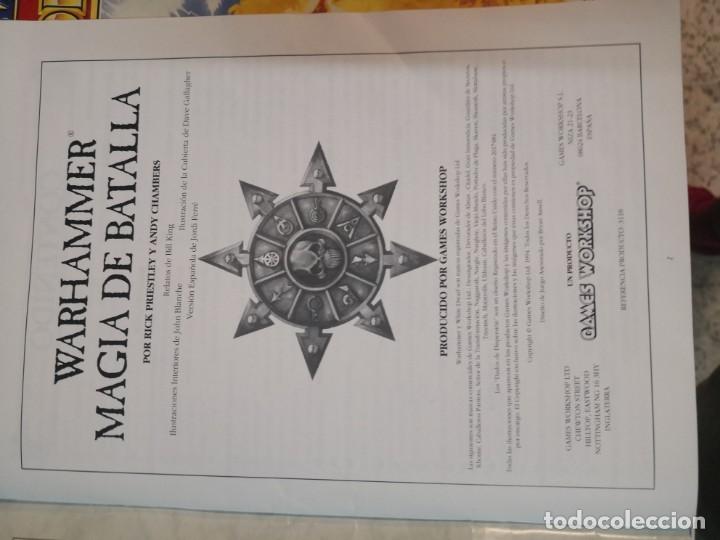 Juegos Antiguos: SUPLEMENTO DE MAGIA PARA WARHAMMER EL JUEGO DE BATALLAS FANTÁSTICAS AÑO 1994 GAMES WORKSHOP - Foto 6 - 173079754