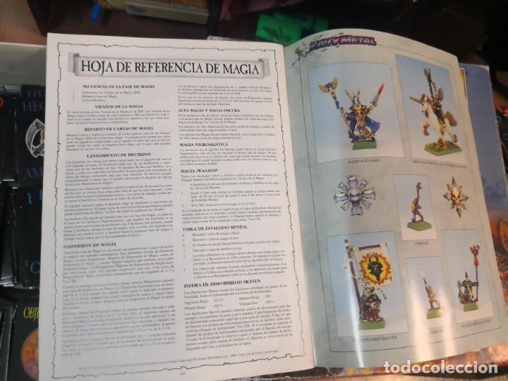 Juegos Antiguos: SUPLEMENTO DE MAGIA PARA WARHAMMER EL JUEGO DE BATALLAS FANTÁSTICAS AÑO 1994 GAMES WORKSHOP - Foto 10 - 173079754