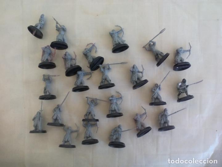 LOTE DE 23 GUERREROS, SOLDADOS EL SEÑOR DE LOS ANILLOS. WARHAMMER. . LORD OF THE RING (Juguetes - Rol y Estrategia - Warhammer)