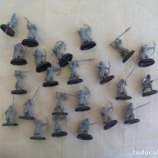 Juegos Antiguos: LOTE DE 23 GUERREROS, SOLDADOS EL SEÑOR DE LOS ANILLOS. WARHAMMER. . LORD OF THE RING. Lote 175466658
