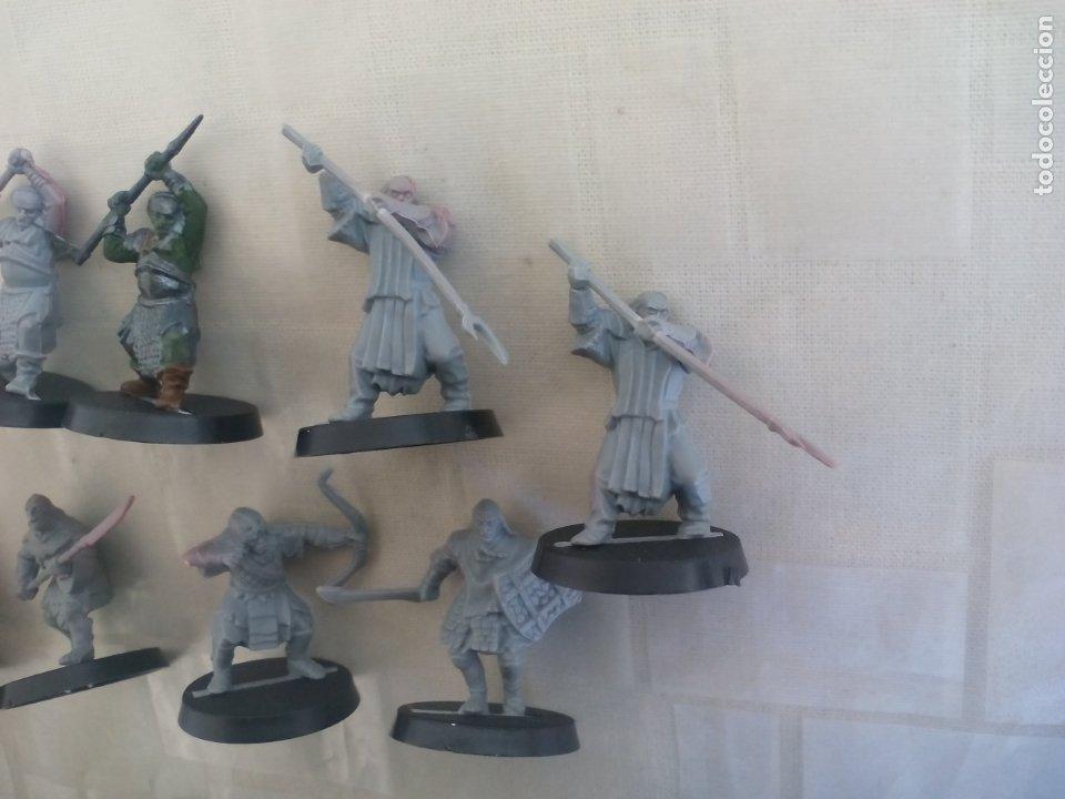 Juegos Antiguos: LOTE DE 11 GUERREROS, SOLDADOS EL SEÑOR DE LOS ANILLOS. WARHAMMER. . LORD OF THE RING - Foto 3 - 175466723