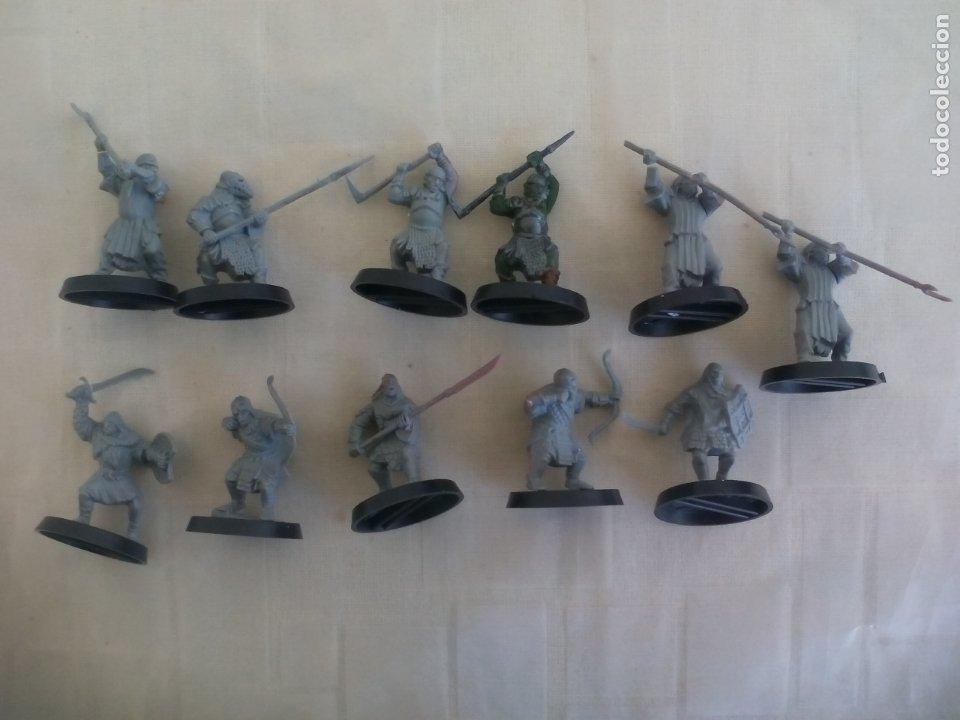 LOTE DE 11 GUERREROS, SOLDADOS EL SEÑOR DE LOS ANILLOS. WARHAMMER. . LORD OF THE RING (Juguetes - Rol y Estrategia - Warhammer)