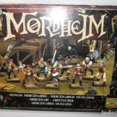 Juegos Antiguos: MORDHEIM, MERCENARIOS HUMANOS, WARHAMMER, GAMES WORHSHOP, EAVY METAL, CITADEL, 1999. Lote 176186212