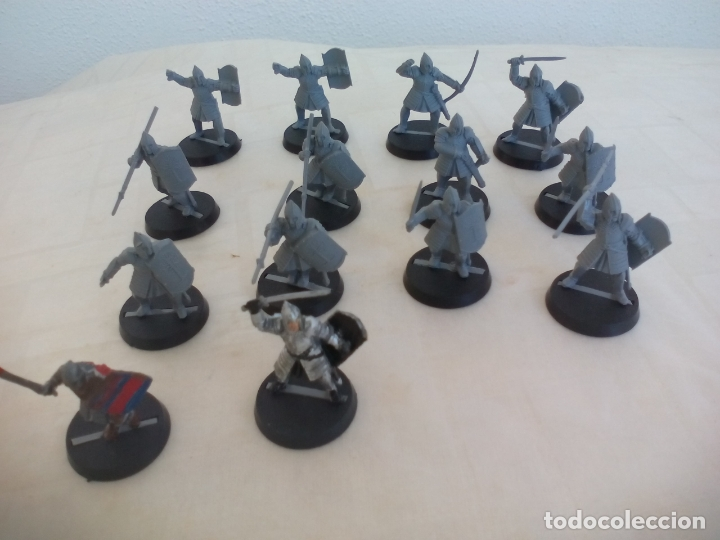 Juegos Antiguos: LOTE DE 14 GUERREROS, SOLDADOS EL SEÑOR DE LOS ANILLOS. WARHAMMER. . LORD OF THE RING - Foto 2 - 177556019