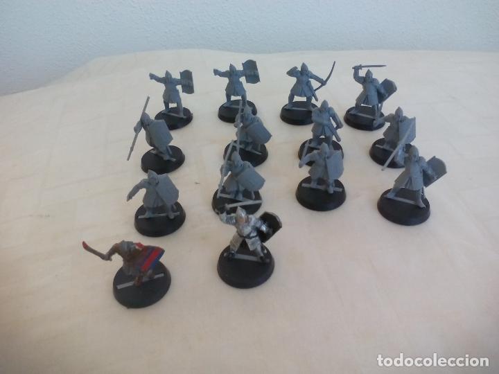 LOTE DE 14 GUERREROS, SOLDADOS EL SEÑOR DE LOS ANILLOS. WARHAMMER. . LORD OF THE RING (Juguetes - Rol y Estrategia - Warhammer)