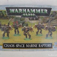 Juegos Antiguos: WARHAMMER 40.000 - CHAOS SPACE MARINE RAPTORS - GAMES WORKSHOP.. Lote 178759225