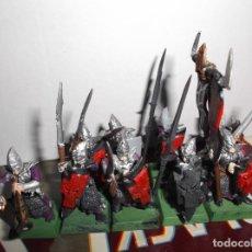 Juegos Antiguos: 9 LANCEROS ELFOS OSCUROS - WARHAMMER FANTASY - GAMES WORKSHOP. Lote 179137042