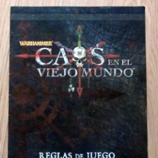 Juegos Antiguos: WARHAMMER CAOS EN EL VIEJO MUNDO REGLAS DEL JUEGO EAGE. Lote 180234698