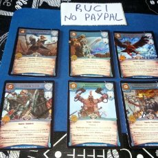 Juegos Antiguos: LOTE 6 TRANDING CARDS WARHAMMER WARCRY WAR CRY. Lote 180253178