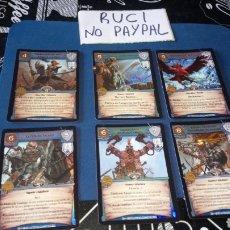 Juegos Antiguos: LOTE 6 TRANDING CARDS WARHAMMER WARCRY WAR CRY. Lote 180253460