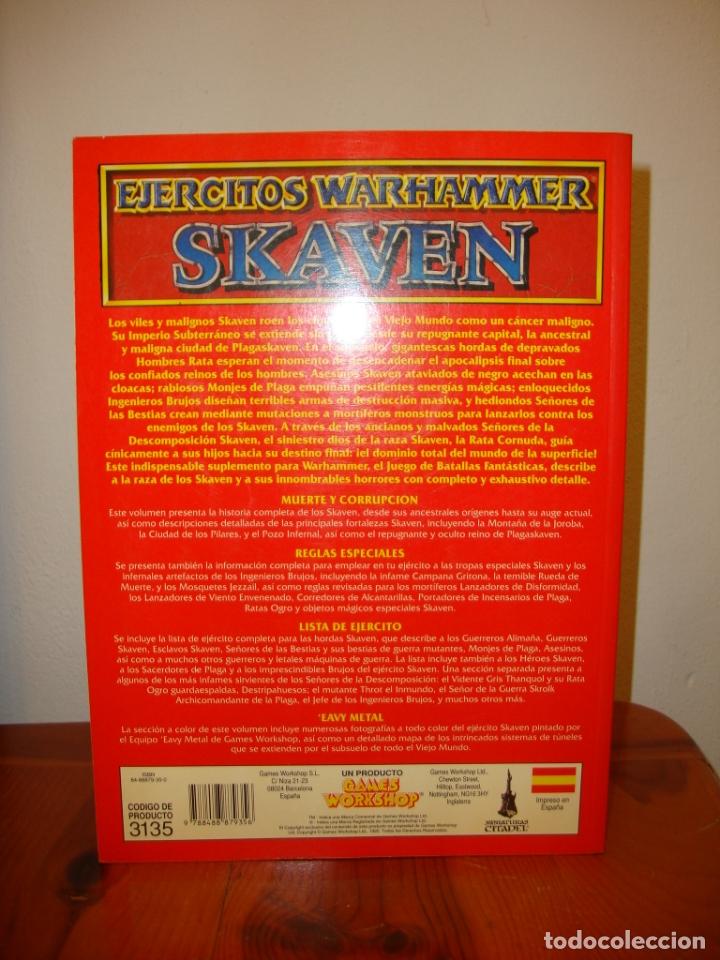 Juegos Antiguos: SKAVEN. EJÉRCITOS WARHAMMER. SUPLEMENTO - GAMES WORKSHOP, MUY BUEN ESTADO - Foto 3 - 182320982