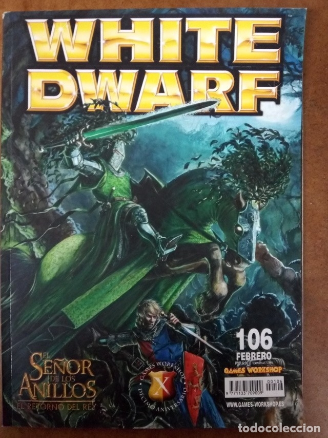 REVISTA WHITE DWARF Nº 106 - GAMES WORKSHOP (Juguetes - Rol y Estrategia - Warhammer)