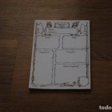Jogos Antigos: BLOC PERSONAJES HEROQUEST ADVENTURE DESIGN BOOKLET KIT DISEÑO MAZMORRAS 1990 MB EXPANSIÓN. Lote 184178502