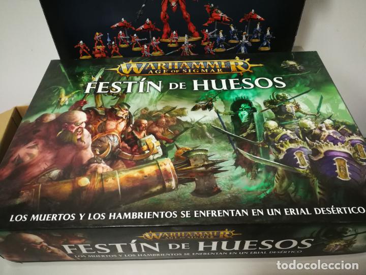 Juegos Antiguos: LOTE WARHAMMER FESTÍN DE HUESOS BATTLEFORCE NECRONS DESGUACES - Foto 5 - 184623807