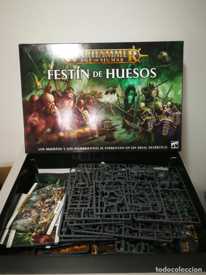 Juegos Antiguos: LOTE WARHAMMER FESTÍN DE HUESOS BATTLEFORCE NECRONS DESGUACES - Foto 6 - 184623807