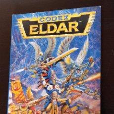 Juegos Antiguos: CODEX ELDAR SUPLEMENTO WARHAMMER 40000. GAMES WORKSHOP. Lote 185188250