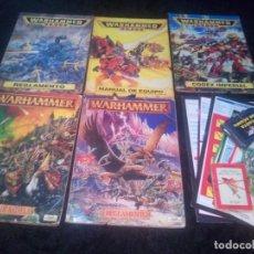 Juegos Antiguos: LOTE REGLAMENTOS Y MANULES , CODEX Y TABLAS WARHAMMER Y WARHAMMER 40000. Lote 181501001