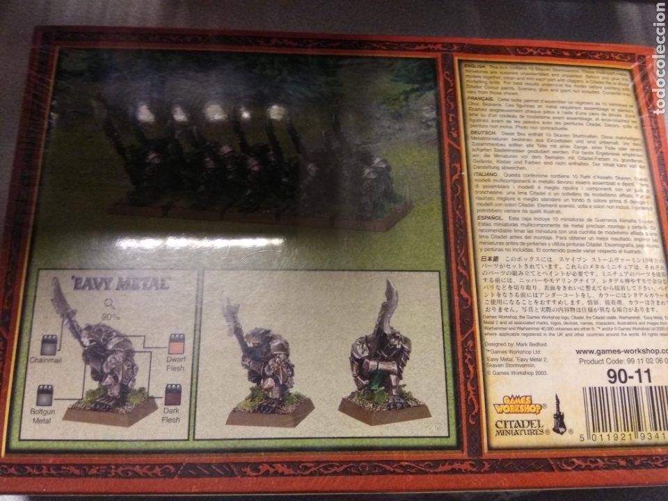 Juegos Antiguos: WARHAMMER GUERREROS ALIMAÑA SKAVENS METAL - SKAVEN STORMVERMIN NUEVOS EN CAJA PRECINTADA - Foto 2 - 189348458