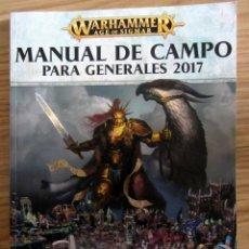 Giochi Antichi: WARHAMMER AGE OF SIGMAR MANUAL DE CAMPO GENERALES 2017 MANUAL CASTELLANO 162 PAGINAS. Lote 189476781