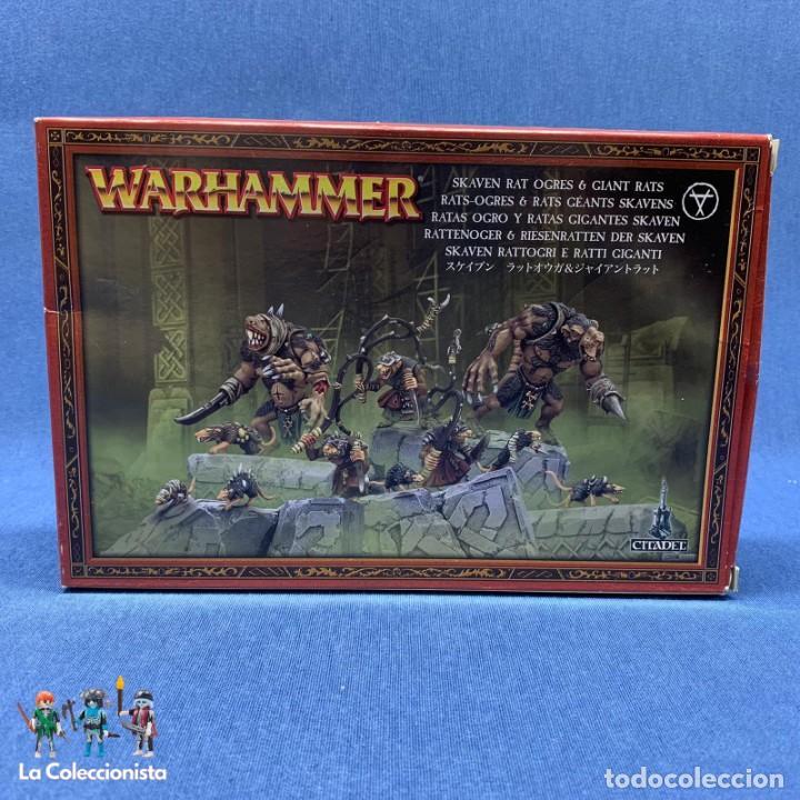 WARHAMMER - CAJA RATAS OGRO Y RATAS GIGANTES SKAVEN - CITADEL / 90-13 - INCOMPLETA (Juguetes - Rol y Estrategia - Warhammer)