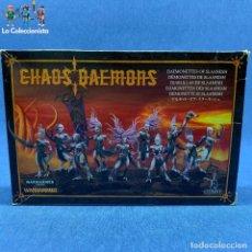 Juegos Antiguos: WARHAMMER - CAJA DIABLILLAS DE SLAANESH - CITADEL / 97-09 - FALTAN POCAS PIEZAS. Lote 192470402