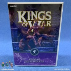 Juegos Antiguos: WARHAMMER - KINGS OF WARS - NUEVO - EN BLISTER SIN ABRIR - 3 UNDEAD WEREWOLVES - . Lote 192475491