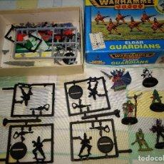 Juegos Antiguos: GAMES WORKSHOP WARHAMMER 40.000 LOTE FIGURAS 3 METAL PINTADAS Y GUARDIANS. Lote 192751110