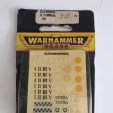 Juegos Antiguos: WARHAMMER 40.000 - CALCOMANIAS ULTRAMARINES (10) - EN BLISTER - GCH1. Lote 193227777