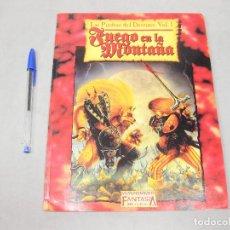 Juegos Antiguos: REVISTA GAMES WORKSHOP WARHAMMER LAS PIEDRAS DEL DESTINO VOLUMEN I - FUEGO EN LA MONTAÑA. Lote 193633252