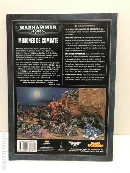 Juegos Antiguos: MISIONES DE COMBATE LIBRO DE SCENARIOS WARHAMMER 40.000 - Foto 2 - 194230427