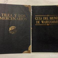 Juegos Antiguos: LIBRETO TILEA Y LOS MERCENARIOS Y GUÍA DEL MUNDO DE WARHAMMER.. Lote 194894965
