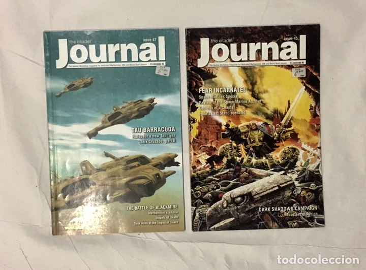 2 CITADEL JOURNAL, MÍTICA REVISTA OFICIAL CON REGLAS ESPECIALES Y MATERIAL EXTRA. (Juguetes - Rol y Estrategia - Warhammer)