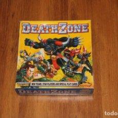 Juegos Antiguos: CAJA DEATH ZONE BLOOD BOWL GAMES WORKSHOP JUEGO MESA ZONA MORTAL 1994 JUEGO SUPLEMENTO. Lote 195152910