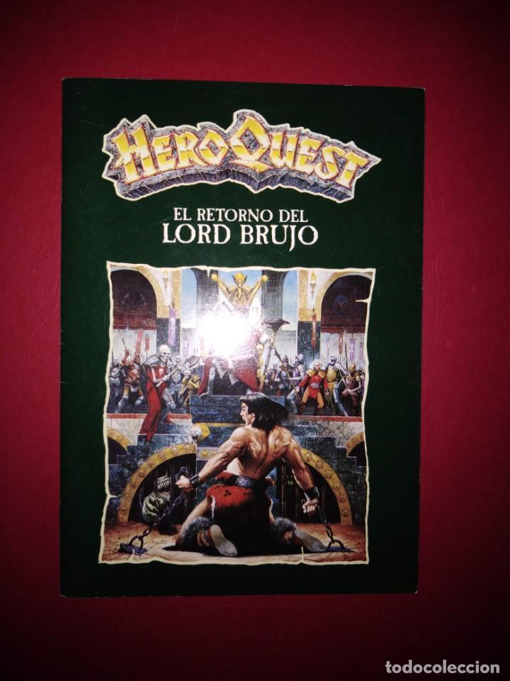 HEROQUEST RETURN OF THE WITCH LORD - LIBRO DE INSTRUCCIONES RETORNO DEL REY BRUJO (Juguetes - Rol y Estrategia - Warhammer)