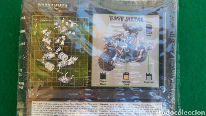Juegos Antiguos: CAJA WARHAMMER 40000, MOTO MARINE ESPECIAL DEL CAOS, NUEVO, PRECINTADO - Foto 2 - 196445677