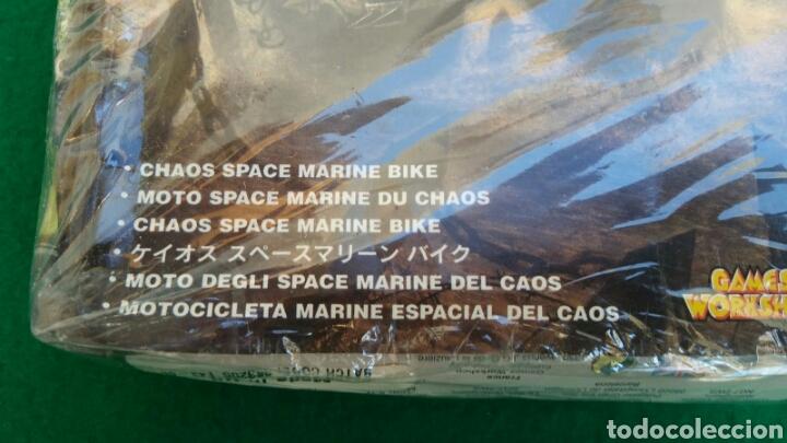 Juegos Antiguos: CAJA WARHAMMER 40000, MOTO MARINE ESPECIAL DEL CAOS, NUEVO, PRECINTADO - Foto 4 - 196445677