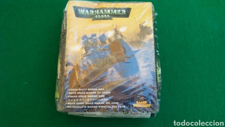 CAJA WARHAMMER 40000, MOTO MARINE ESPECIAL DEL CAOS, NUEVO, PRECINTADO (Juguetes - Rol y Estrategia - Warhammer)