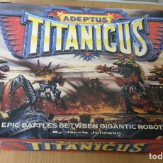 Juegos Antiguos: ADEPTUS TITANICUS EPIC BATTLES BETWEEN GIGANTIC ROBOTS GAMES WORKSHOP WARHAMMER AÑO 1988. Lote 197716341
