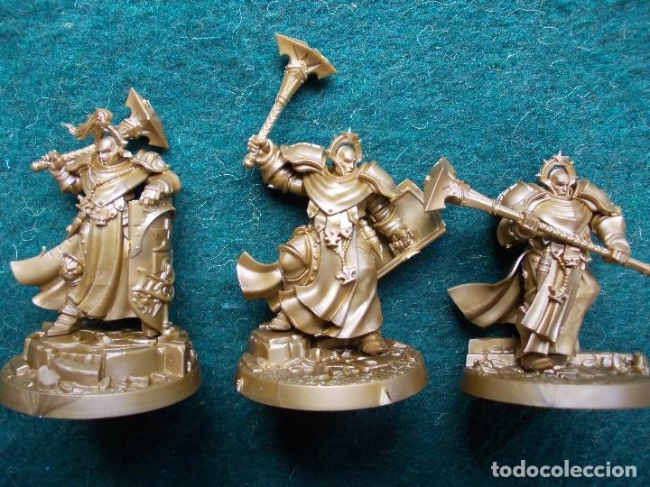 LOTE DE 3 FIGURAS AGE OF SIGMAR STORMCAST ETERNALS SEQUITORS (Juguetes - Rol y Estrategia - Warhammer)