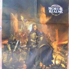 Juegos Antiguos: POSTER MORTAL REALMS ERA SIGMAR 88X57. Lote 199194001
